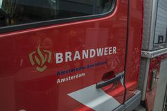 Logo Fire Department Amsterdam The Países Baixos fotografia de stock royalty free
