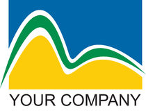 logo firmy do Rio. Zdjęcie Royalty Free