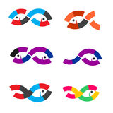 Logo Fish abstract Stock Images