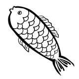 Logo fish is black and white. vector illustration. Logo fish is black and white vector illustration Royalty Free Stock Photo
