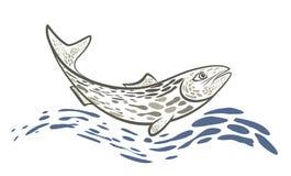Logo fish. Stock Photo