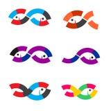 Logo Fish-samenvatting Stock Afbeeldingen