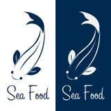 Logo fish sea food. Ocean. Vector illustration. Royalty Free Stock Photography