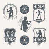 Logo fitness club Stock Photography