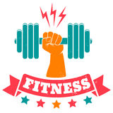 Logo for fitness club Royalty Free Stock Images
