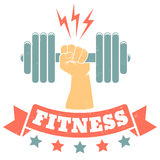 Logo for fitness club Royalty Free Stock Photo