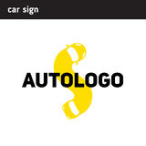Logo flexible car, letter shape s Royalty Free Stock Images