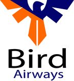 Bird airways and logo template vector illustration