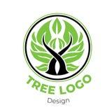 Logo floral élégant de vecteur photographie stock libre de droits