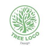 Logo floral élégant de vecteur image stock