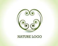 Logo floral de nature illustration libre de droits