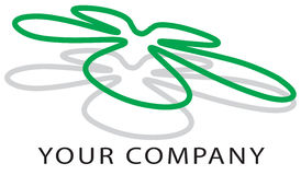 Logo flower. Logo to your company or enviroment project royalty free illustration