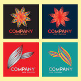 Logo  flower&leaft vector illustration Royalty Free Stock Photo