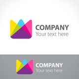 Logo flower tulip, color triangles. Vector illustration Stock Photography