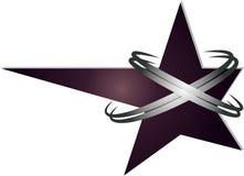 Logo foncé d'étoile Photographie stock