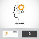 Logo fonctionnant de vitesse d'esprit de génie illustration stock