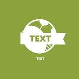 Logo Football Around The World och Logo Template Arkivfoto