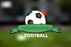 Logo Football Championship Imagenes de archivo