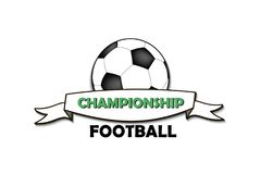 Logo Football Championship Imágenes de archivo libres de regalías