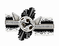 Logo Football Championship Imagen de archivo libre de regalías