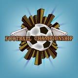 Logo Football Championship Fotos de archivo