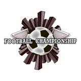 Logo Football Championship Imagen de archivo