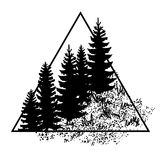 Logo with forest trees Stock Photos