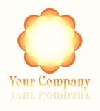 Logo formé par fleur Image stock