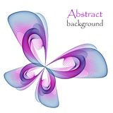 Logo in the form of an abstract multicolored butterfly. On a white background Stock Photos