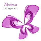 Logo in the form of an abstract purple butterfly. On a white background royalty free illustration