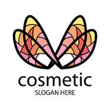 Logo in the form of multi-colored wings Stock Photos