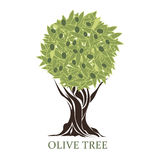 Logo in the form of a stylized olive tree Royalty Free Stock Photos