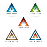 Logo a forma di freccia Fotografia Stock Libera da Diritti