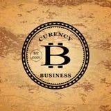 Logo a forma di stella del bitcoin Fotografie Stock Libere da Diritti