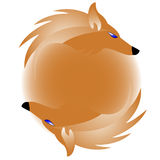 Logo with fox. Vector illustration vector illustration