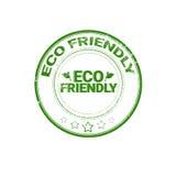 Logo för gräsplan för symbol för Eco vänlig organisk naturproduktrengöringsduk Royaltyfri Bild