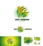Logo för kub 3d för företags affär Royaltyfri Fotografi
