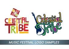 Logo för musikfestival Arkivfoto