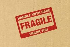 Logo fragile Photos libres de droits