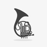 Logo with French Horn Stock Photography