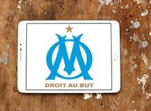 Olympique de Marseille soccer club logo. Logo of french soccer club Olympique de Marseille on samsung tablet Stock Images