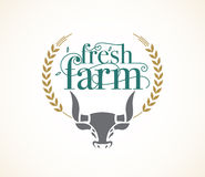 Logo fresh farm design template. Royalty Free Stock Photography