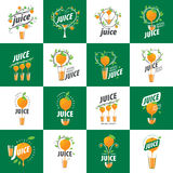 Logo of fresh juice. Vector icon fresh juice from natural products Royalty Free Stock Image