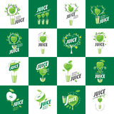 Logo of fresh juice. Vector icon fresh juice from natural products Royalty Free Stock Photo