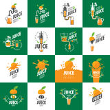 Logo of fresh juice. Vector icon fresh juice from natural products Royalty Free Stock Photos