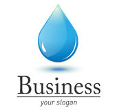 Logo fresh water drop Royalty Free Stock Photo