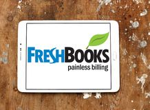 Freshbooks cloud accounting logo. Logo of Freshbooks cloud accounting company on samsung tablet. Freshbooks, Inc., provides cloud-based accounting solutions for Royalty Free Stock Images