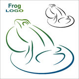 Logo of the frog. Color and Black and white version. Royalty Free Stock Photo