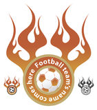 logo futbolowa drużyna Zdjęcia Royalty Free