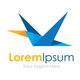 Logo géométrique étrange d'affaires d'icônes d'élément d'oiseau de vol de pixel Photos libres de droits